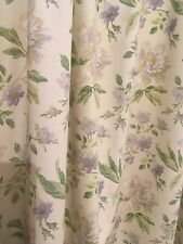 Laura Ashley Curtains Blackout Lined Floral Linen Wide Pair