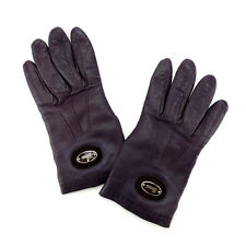 Gucci gloves Brown Gold Woman Authentic Used Y4954