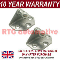 PAIR GAS STRUT END FITTINGS 10MM BALL PIN + BRACKET SILVER MULTI FIT GSF37