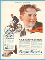 1921 Dayton Bicycles Ohio Oh Boy Spring Is Here Davis Sewing Machine Co Ad