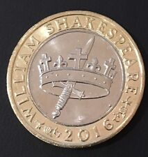 £2 Coin William Shakespeare Hollow Crown Sword Histories 2016 FREEPOST