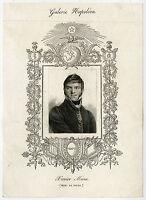 4 Antique Prints-MINA-LACEPEDE-ALFIERI-DE MARBEUF-Massard & Allais-1829
