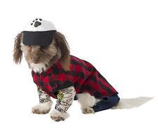 Hipster Dog - Pet Costume  Dog Cat Plaid Shirt Tattoo Sleeves fnt MEDIUM NEW