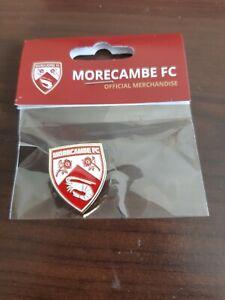 21/22 NEW Design Morecambe Football Club Pin Badge Brand new perfect.