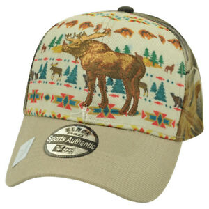 Moose Animal Nature Native Pattern Camouflage Camo  Hat Cap Hunting Camp