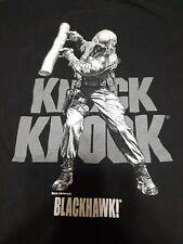 Knock Knock T-Shirt by Blackhawk!  Dick Kramer Art - Mens L