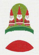 *NEW* Dimensional 3 Santas Christmas BELL HP Needlepoint Canvas ~ Labors of Love