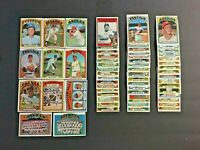(Lot of 62) 1972 Topps Baseball Cards (Stars, Rookies, Commons)EX Condition LT11