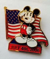 Disney Pin DSF July 4th 2006 American Flag Mickey Mouse