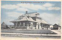 D11/ Springville New York NY Postcard c1910 B.R.&P. Railroad Depot Station
