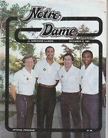 DEC 12 1981 COLLEGE NCAA BASKETBALL program NOTRE DAME vs NORTHERN ILLINOIS