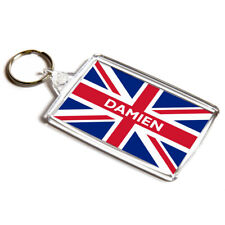 4 PIECE METAL CUTE TEDDY BEAR UK UNION JACK ENGLAND USA FLAG KEYRING CHARM GIFT
