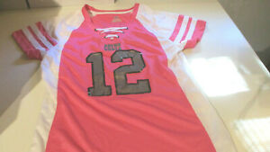 NEW MAJESTIC WOMENS INDIANAPOLIS COLTS #12 ANDREW LUCK JERSEY SHIRT PINK SMALL