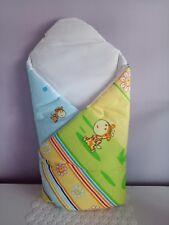BABY GIRL BOY NEWBORN SWADDLE WRAP BECIK BLANKET SLEEPING BAG DUVET Hard Back