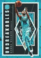 2018-19 Panini Cornerstones Unbreakables #10 Kemba Walker Charlotte Hornets