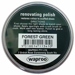 Waproo Forrest Green Shoe Polish Cream - Renovating Polish - Top Quility !!