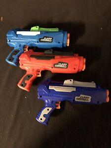 Adventure Force Clash Combat Dart Blasters Lit If 3 Red Blue Lt Blue