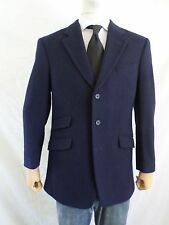 RICHARD JAMES 100% cashmere blue 3 button dual vent slant pocket jacket 40
