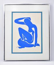 Authentic Matisse Blue Nude Silkscreen Serigraph Framed Mid Century SEE DETAILS