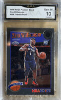2019 Panini NBA Hoops Premium Stock Zion Williamson Rookie Gem Mint 10 #296