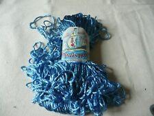 1 écheveau paille perlée bleu belle étiquette