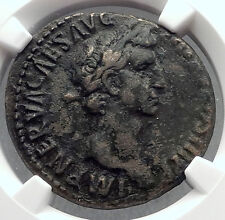 NERVA 97AD Rome Authentic Ancient NGC Certified Ch VF Roman Coin FORTUNA i60234