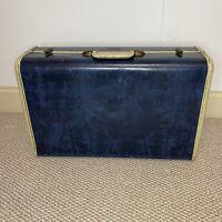 Vintage Samsonite Schwayder Brothers Blue Marble Suitcase Luggage 21x13x8