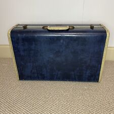 Vintage Samsonite Schwayder Brothers Blue Marble Suitcase Luggage 21x13x8