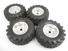 Vintage Tamiya Mountaineer Bruiser 2.2 Chrome Nylon Wheels & Utility Tires