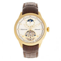 Heritor Gregory Automatic White Semi Skeleton Dial Men's Watch HERHR8103