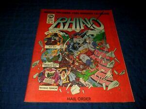 RHINO RECORDS-1989 SUMMER CATALOG--COMIC BOOK STYLE COVER---COMPLETE