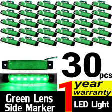 30pcs Green 12V 6 LED Clearance Side Marker Car Truck Trailer Lights Van Sealed
