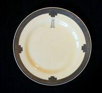 Beautiful Clarice Cliff Platinum Hotel Bread Plate