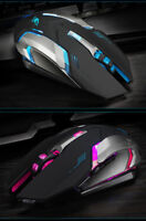 Rechargeable Wireless Silent LED Backlit USB Optical Ergonomic Pro Gaming Mouse.