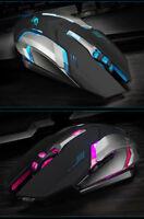 Rechargeable Wireless Silent LED Backlit USB Optical Ergonomic Pro Gaming Mouse