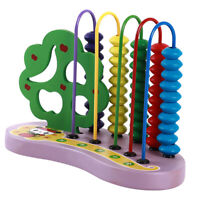 Wooden Bead Abacus Kids Early Educational Math Learning Counting Toy Gift MA