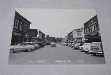 MOBERLY MISSOURI REED STREET REAL PHOTO POSTCARD RPPC