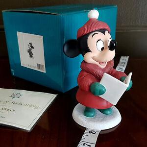 WDCC Minnie Mouse Holiday Christmas Caroler Disney porcelain