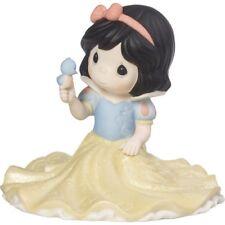 $ PRECIOUS MOMENTS DISNEY Porcelain Figurine SNOW WHITE PRINCESS BLUEBIRD SING