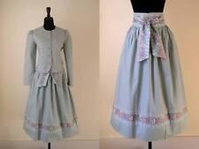 VTG 80s Vera Bradley MIST GREEN Floral Skirt Set 3 PC QUILTED JACKET Sash Belt M