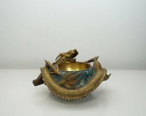 A Cloisonné 'Dragon' Water Pot
