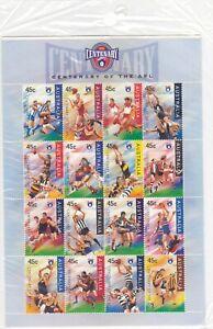 AFL 1996 Centenary Of The AFL Australia Post Stamp Sheet