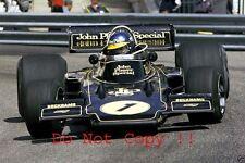 Ronnie Peterson JPS Lotus 72E Winner Monaco Grand Prix 1974 Photograph 4
