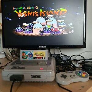 Super Mario World 2 Yoshi's Island SNES Super Nintendo PAL Genuine Working Cart