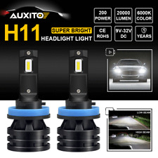 2X CREE H8 H11 H9 40000LM LED Headlight High Low Beam Replace Halogen Bulbs Lamp