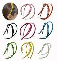 2 PCS Plastic Headband for Women Girls w/Comb Hairbands Stylish Hair Hold