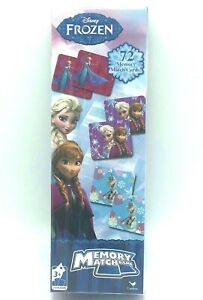 Disney Frozen Match Game 72 Cards Educational Learning Memory Practice Princess