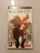Metal Gear Acid Sony PSP+LIBRO DE CARTAS EDICION LIMITADA pal ESPAÑA COMPLETO