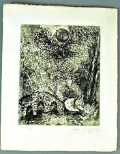 ORIGINAL CHAGALL SIGNED NUMBERED ETCHING