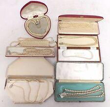 Gros lot of vintage fausses perles colliers, certains Coffret-H30